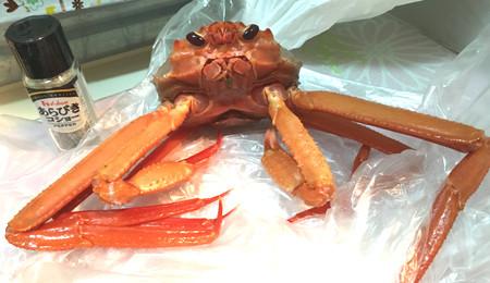 1杯398円の蟹で1人蟹三昧。